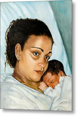After Birth Jacina And Javon Metal Print