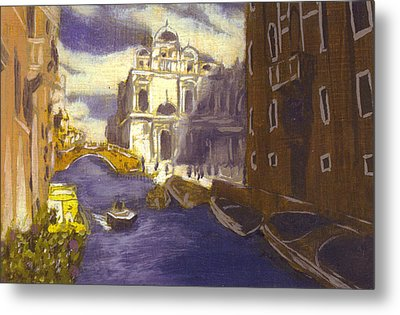After Church Of Santi Giovanni E Paolo With The School Of St. Mark Metal Print by Hyper - Canaletto