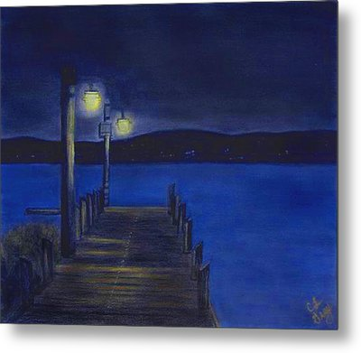 After Dinner Walk Metal Print by Cindy Gray
