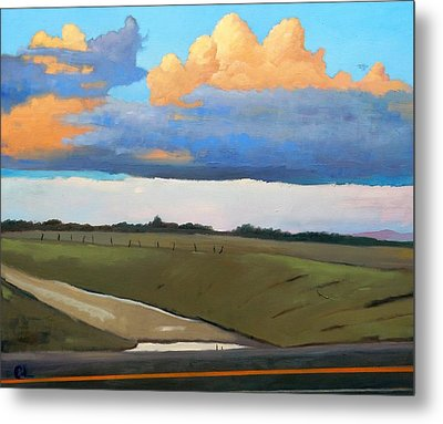 Metal Print featuring the painting After Shower by Gary Coleman