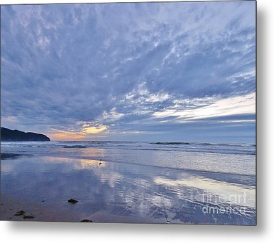 Moonlight After Sunset Metal Print by Michele Penner