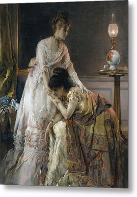 After The Ball Metal Print by Alfred Emile Stevens