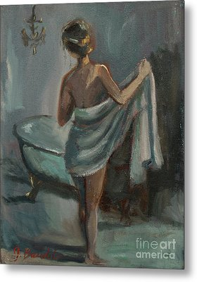 Metal Print featuring the painting After The Bath by Jennifer Beaudet