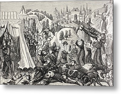 After The Battle Of Hastings, October Metal Print by Vintage Design Pics