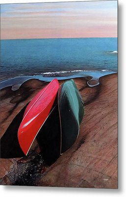 Metal Print featuring the painting After The Crossing by Kenneth M Kirsch