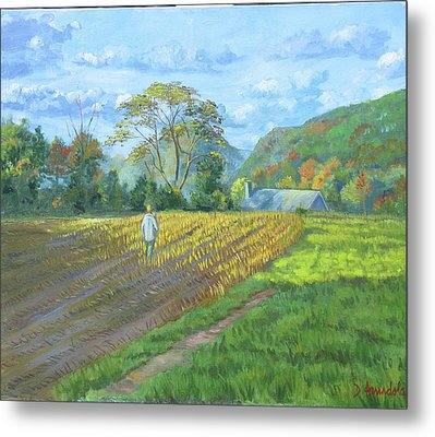After The Harvest Metal Print by Dominique Amendola