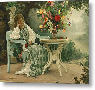 After The Masquerade Metal Print by Greg Olsen