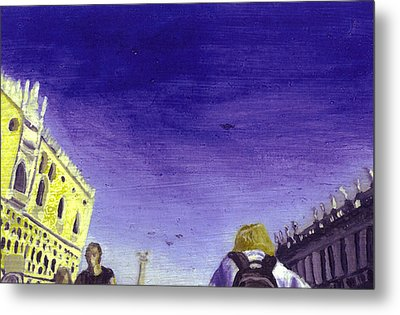 After The Piazzetta Towards The South Metal Print by Hyper - Canaletto