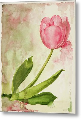 After The Rain  Tulip 2 Metal Print