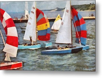 After The Regatta  Metal Print by Michelle Calkins