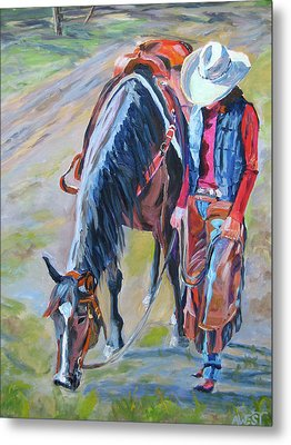After The Ride Metal Print by Anne West