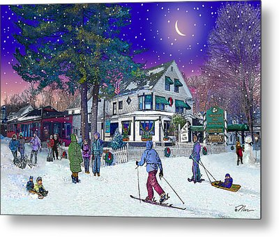 After The Storm At Woodstock Inn Metal Print by Nancy Griswold