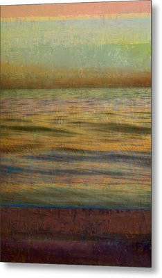 After The Sunset - Teal Sky Metal Print by Michelle Calkins