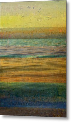 After The Sunset - Yellow Sky Metal Print by Michelle Calkins