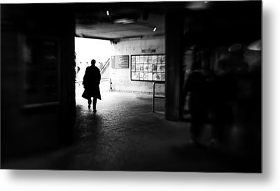 After Work - Dublin, Ireland - Black And White Street Photography Metal Print by Giuseppe Milo