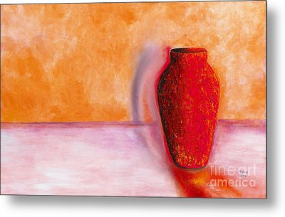 Metal Print featuring the painting Afterglow by Marlene Book