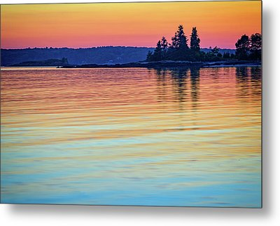 Afterglow On Johns River Metal Print