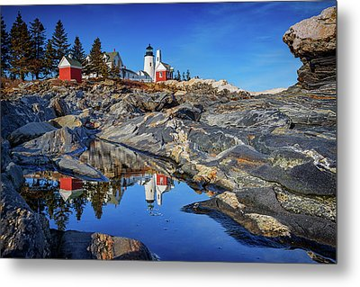 Afternoon At Pemaquid Point Metal Print by Rick Berk