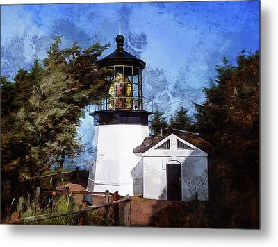 Afternoon At The Cape Meares Lighthouse  Metal Print