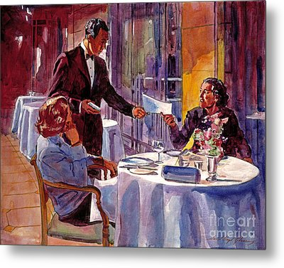 Afternoon At The Dorchester Metal Print by David Lloyd Glover