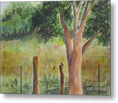 Metal Print featuring the painting Afternoon Chat by Vicki  Housel
