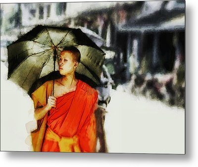 Afternoon In Luang Prabang Metal Print