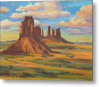 Metal Print featuring the painting Afternoon Light Monument Valley by Diane McClary