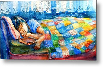 Afternoon Nap Metal Print by Trudi Doyle