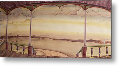 Metal Print featuring the painting Afternoon On The Porch Of The Old Victorian by Scott Kirby