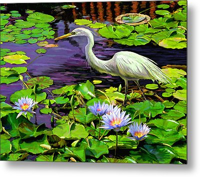 Metal Print featuring the painting Afternoon Snack by David  Van Hulst