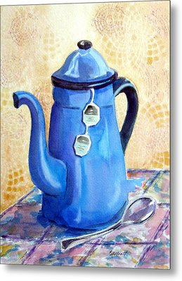 Afternoon Tea Metal Print by Marsha Elliott