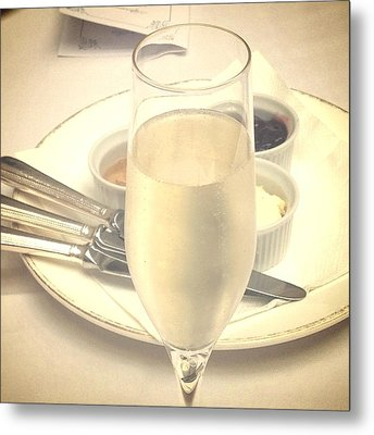 Afternoon Tea With Champagne Metal Print