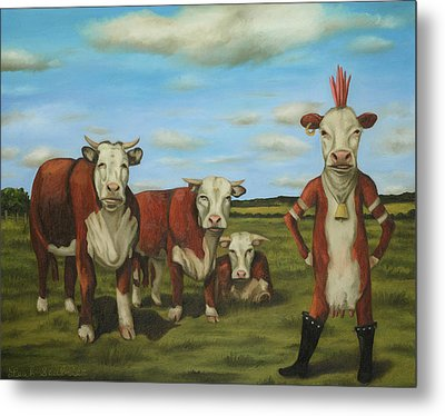 Against The Herd Metal Print by Leah Saulnier The Painting Maniac