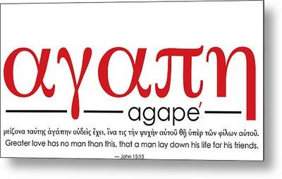 Agape Metal Print