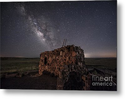 Metal Print featuring the photograph Agate House At Night by Melany Sarafis
