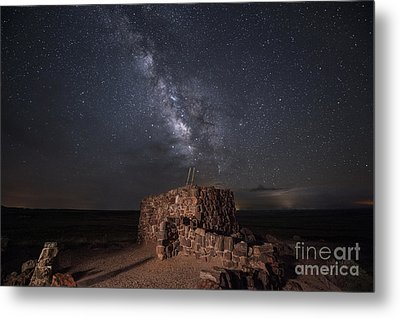 Agate House At Night2 Metal Print by Melany Sarafis