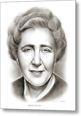 Agatha Christie Metal Print by Greg Joens