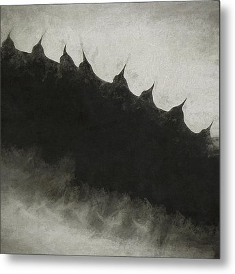 Agave Impression Five Metal Print by Carol Leigh