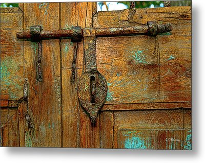 Aged Latch Metal Print by Christopher Holmes