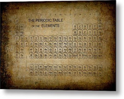 Aged To Perfection Periodic Table Metal Print