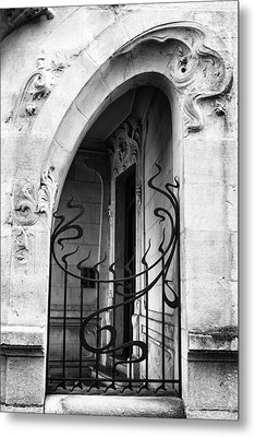 Agen Art Nouveau Gate And Door Metal Print by Georgia Fowler