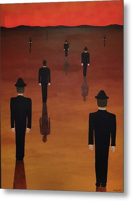 Metal Print featuring the painting Agents Orange by Thomas Blood