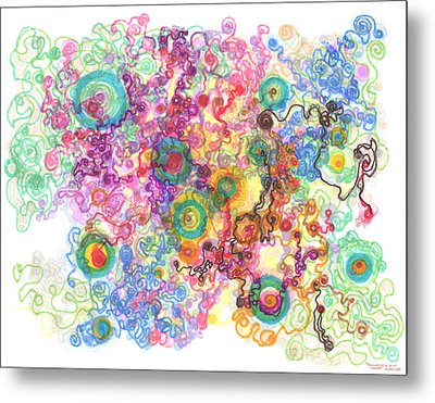 Agglomeration With Pinning Metal Print by Regina Valluzzi