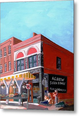 Agnew Feed And Seed  Metal Print by Todd Bandy