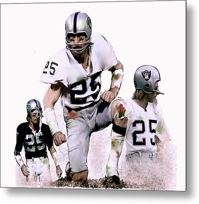 Agony Of Greatness, Vii  Fred Biletnikoff  Metal Print by Iconic Images Art Gallery David Pucciarelli