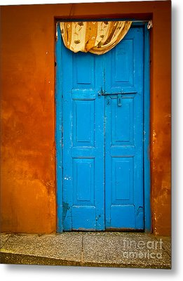 Agra Door Metal Print