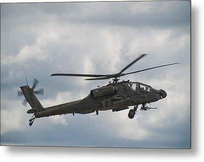 Ah-64 Apache Metal Print by Sebastian Musial