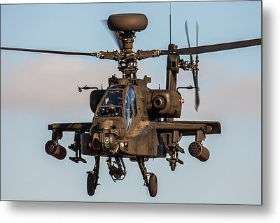 Ah64 Apache Flying Metal Print