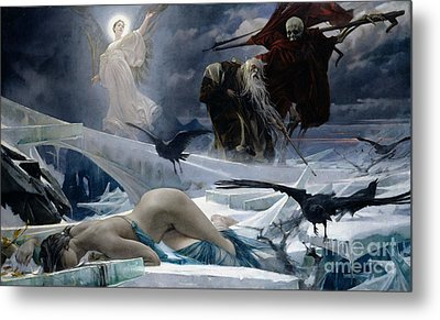 Ahasuerus At The End Of The World Metal Print by Adolph Hiremy Hirschl