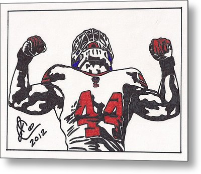 Metal Print featuring the drawing Ahmad Bradshaw by Jeremiah Colley